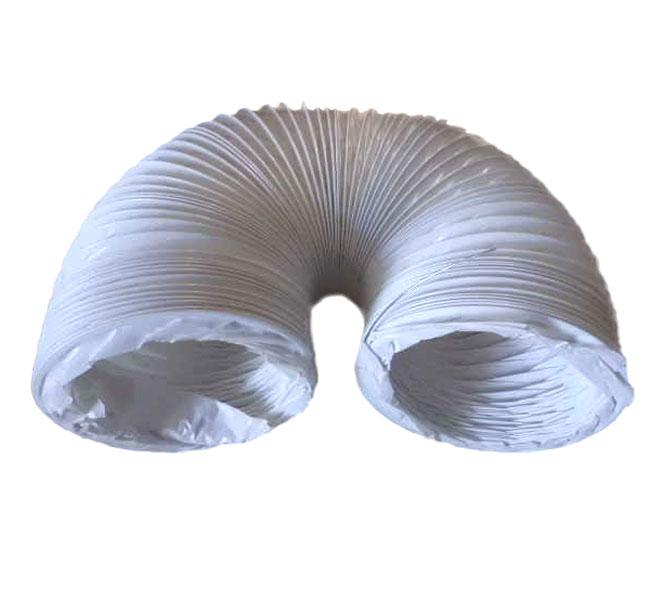 abluftschlauch f r dunstabzugshaube 125mm 1 5m lang inkl 2 schellen pvc wei ebay. Black Bedroom Furniture Sets. Home Design Ideas