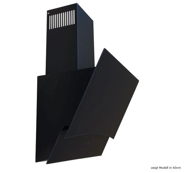 dunstabzugshaube 90cm dunstabzug wandhaube schwarz glas schr ghaube kopffrei led ebay. Black Bedroom Furniture Sets. Home Design Ideas